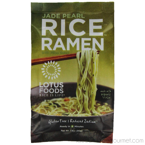 Lotus Foods - Gourmet Jade Pearl Rice Ramen And Miso Soup, Lower Sodium, 2.8Oz - Ramen - La Courtisane Gourmet Food