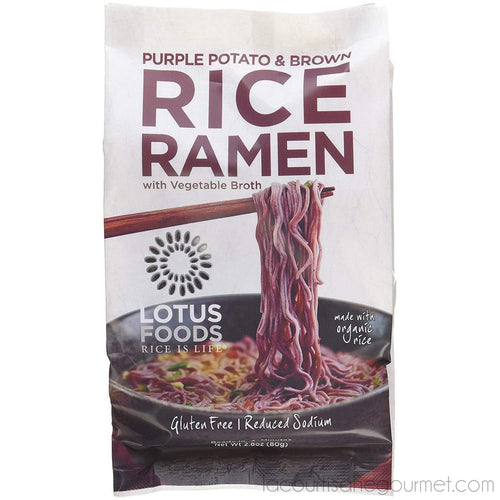 Lotus Foods - Gourmet Purple Potato And Brown Rice Ramen With Vegetable Soup, 2.8Oz - Ramen - La Courtisane Gourmet Food
