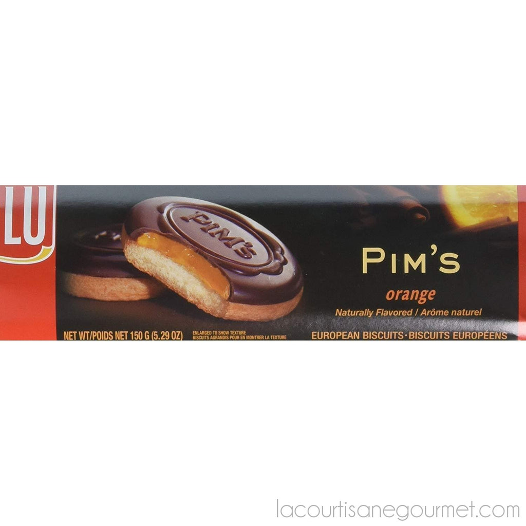 Lu Pim'S Orange European Biscuit Cookies, 5.29 Ounce (Pack Of 6) - cookies - La Courtisane Gourmet Food