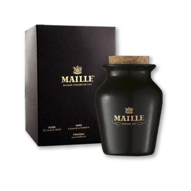 Maille - Black Truffle Mustard With Chablis White Wine, Freshly Pumped 17.6Oz - Mustard - La Courtisane Gourmet Food