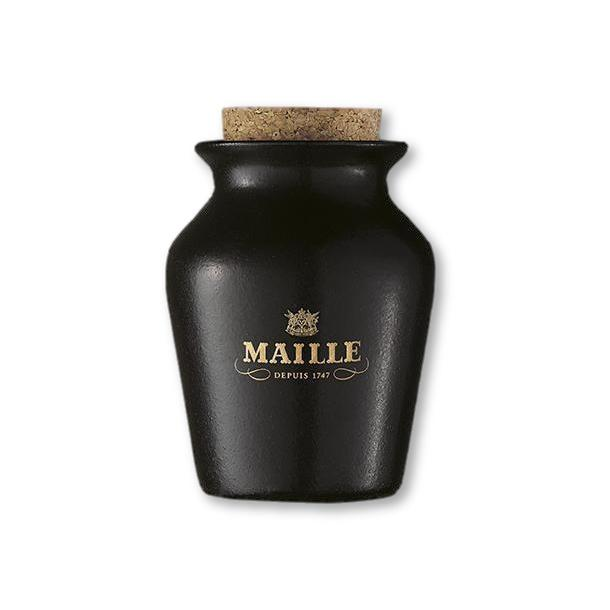 Maille - Black Truffle Mustard With Chablis White Wine, Freshly Pumped 4.4Oz - Mustard - La Courtisane Gourmet Food