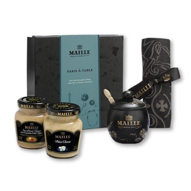 Maille - Exclusive Paris Mustard Table Gift Box Set - Mustard - La Courtisane Gourmet Food
