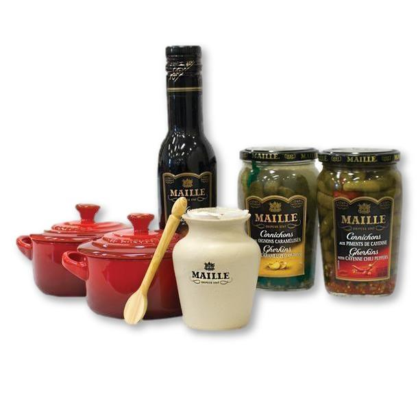 Maille - Le Creuset Mini Cocotte And Maille Dinner Selection - tableware - La Courtisane Gourmet Food