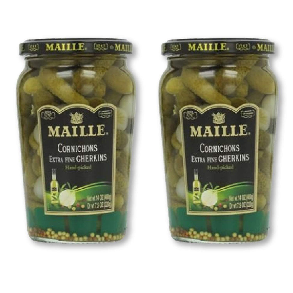 Maille Original Cornichons Gherkins, 13.5 Oz (Pack Of 2) - - La Courtisane Gourmet Food