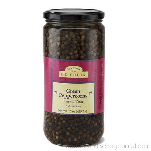 Maison de Choix - Green Peppercorns in Brine 15 oz - Pepper - La Courtisane Gourmet Food