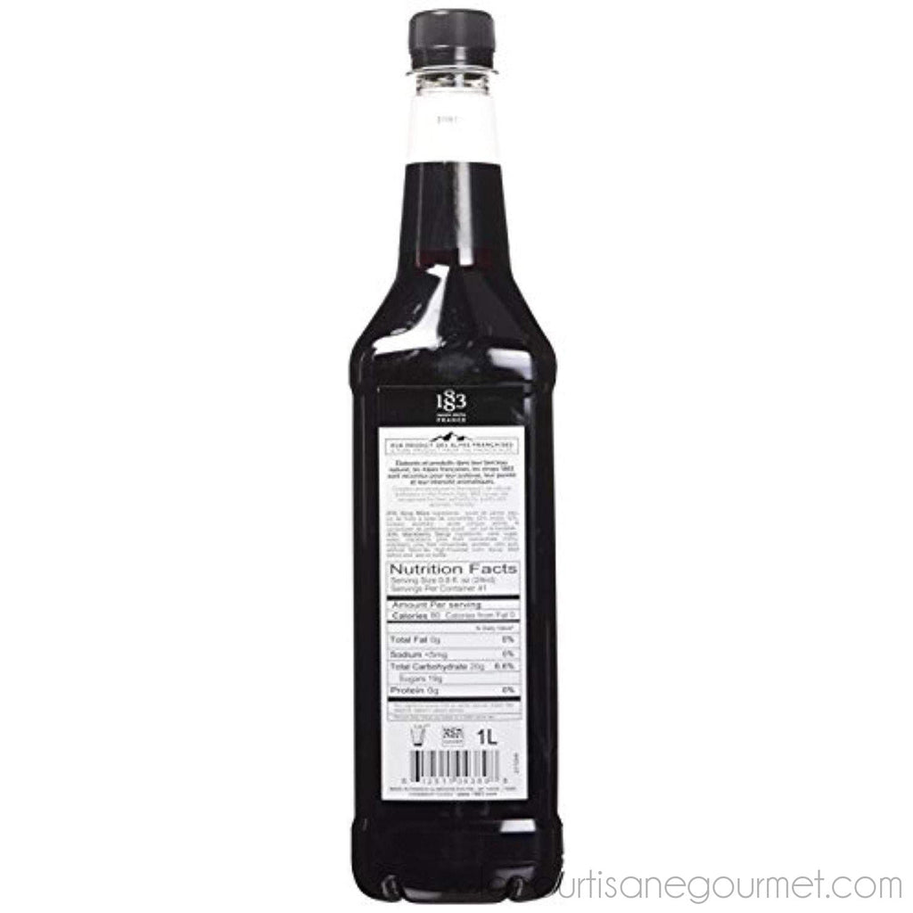 Maison Routin 1883 Blackberry Syrup - Pet Bottle - 1 Liter - Syrup - La Courtisane Gourmet Food