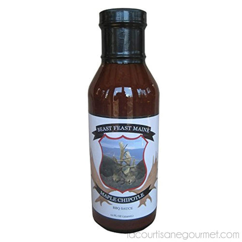 Maple Chipotle Bbq Sauce | Handcrafted All Natural Barbeque Grilling Sauce | Made With Proprietary Worcestershire Sauce And Other Spices(12 Oz) - Maple Sauce - La Courtisane Gourmet Food