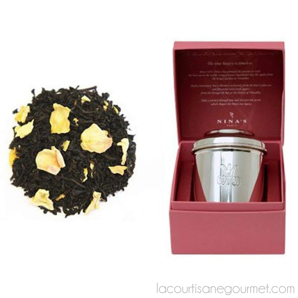 Marie Antoinette Silver Canister With 70Gr Of Loose Tea - Gift Box - - La Courtisane Gourmet Food
