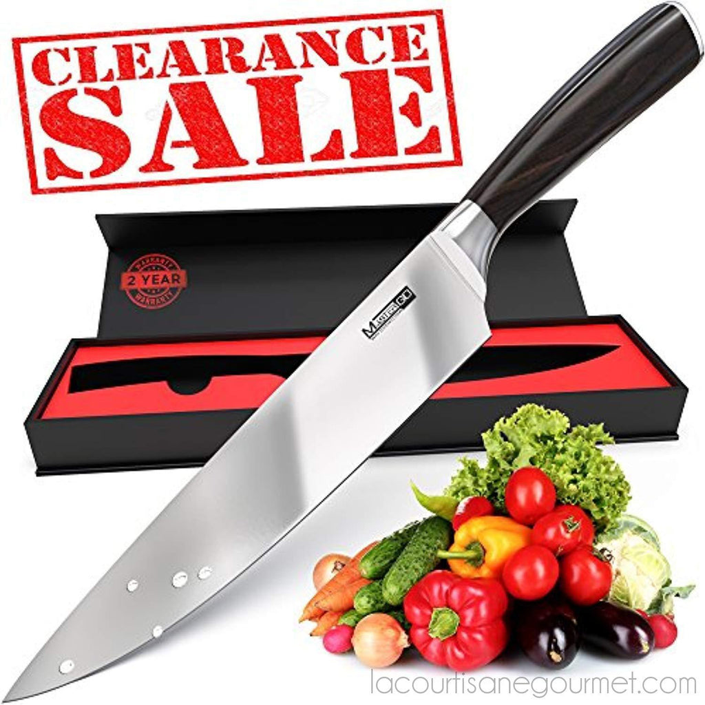 Mastergo Kitchen 8Inch Chef Knife - Super Sharp Knife - Cooking Knife Professional - Best Chefs Knife And Nice Sushi Knife – German High Carbon Stainless Steel Kitchen Knives For Man And Woman - - La Courtisane Gourmet Food