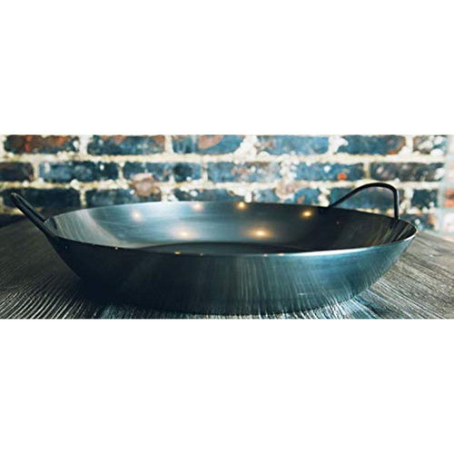 Matfer Bourgeat 062053 Black Steel Paella Pan, 17-3/4 In. Diameter - Pan - La Courtisane Gourmet Food