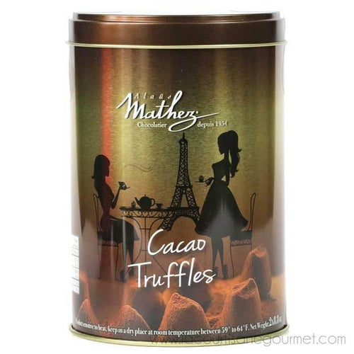 Mathez - French Chocolate Truffles, 17.6oz Tin - Chocolate - La Courtisane Gourmet Food
