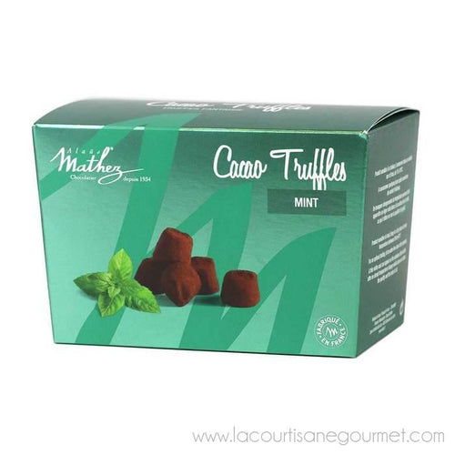 Mathez - French Chocolate Truffles with Mint, 8.8oz Box - Chocolate - La Courtisane Gourmet Food