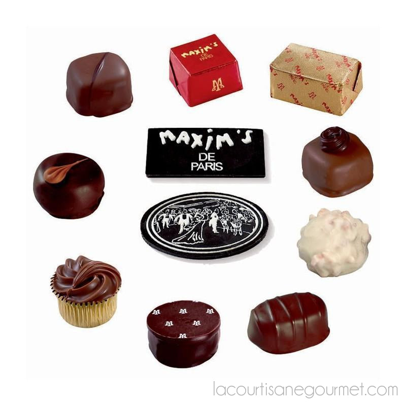Maxim'S De Paris - Beautiful Era (Belle Epoque) Assorted Chocolates, 22Pc Gift Tin 7.58Os (215G) - Chocolate - La Courtisane Gourmet Food