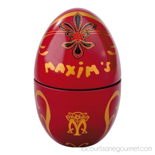 Maxim'S De Paris - Egg Gift Tin (100G) - Chocolate - La Courtisane Gourmet Food