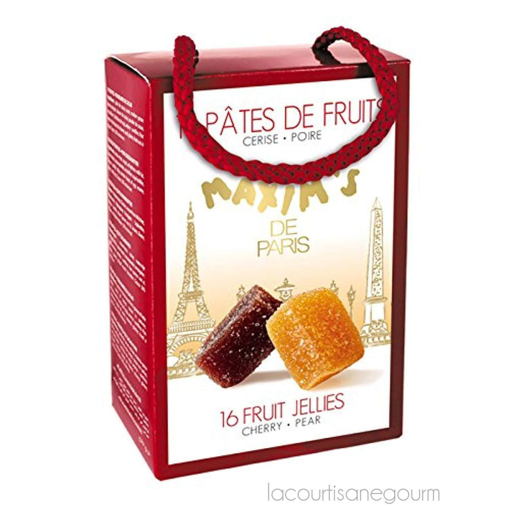 Maxim'S De Paris Fruit Jellies In Gift Cardbox - Pack Of 16 - 3.95Oz (112G) - Fruit Jellies - La Courtisane Gourmet Food