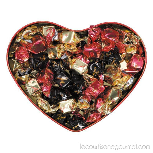 Maxim'S De Paris - Large Red Heart Tin Assorted Dark & Milk Chocolates 6.35Oz (180G) - Chocolate - La Courtisane Gourmet Food