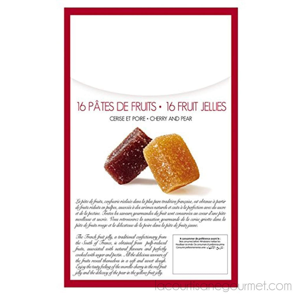 Maxim'S Fruit Jellies In Gift Cardbox 112 G (Pack Of 16) - Fruit Jelly - La Courtisane Gourmet Food