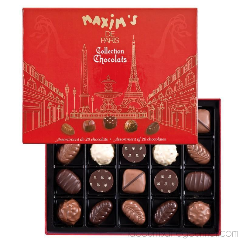 Maxim'S Paris - Collection Chocolate - Assortment Of 20 Chocolates - Chocolate - La Courtisane Gourmet Food