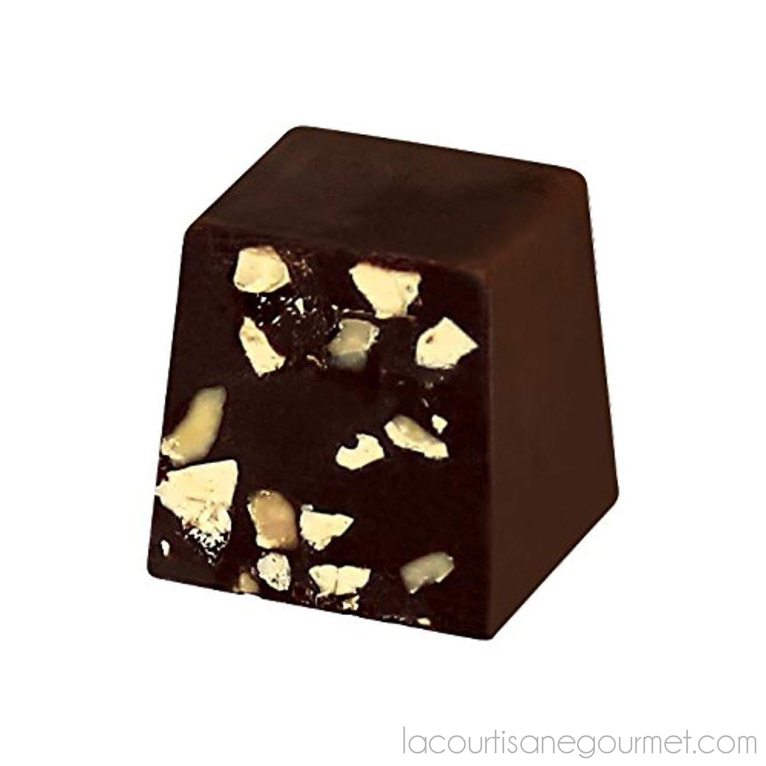 Maxim'S Paris Heart Tin (Dark Chocolate Almonds & Honey - Dark) - - La Courtisane Gourmet Food