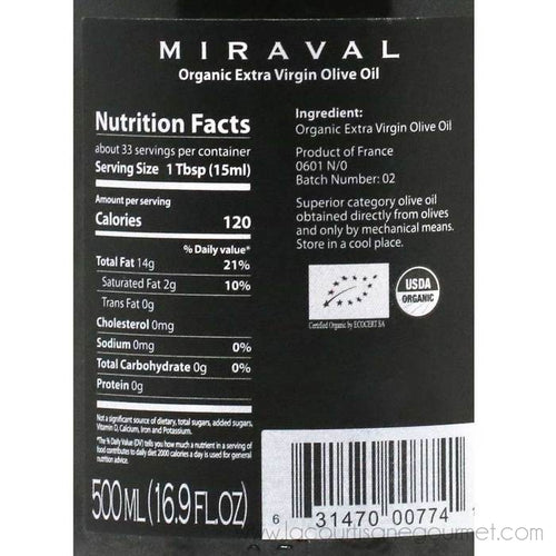 Miraval - Organic Extra Virgin Olive Oil, 500ml Crock - Olive Oil - La Courtisane Gourmet Food