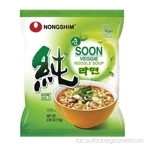 Nongshim Soon Noodle Soup, Veggie, 3.95 Ounce (Pack Of 10) - Noodle - La Courtisane Gourmet Food