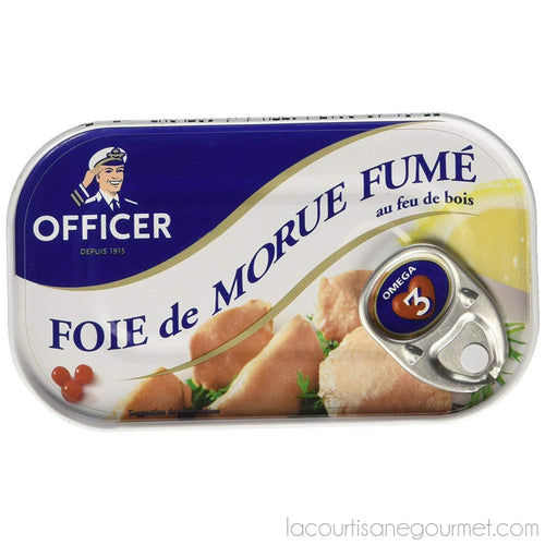 Officer - Smoked Cod Liver 4.26 Oz - Cod Liver - La Courtisane Gourmet Food