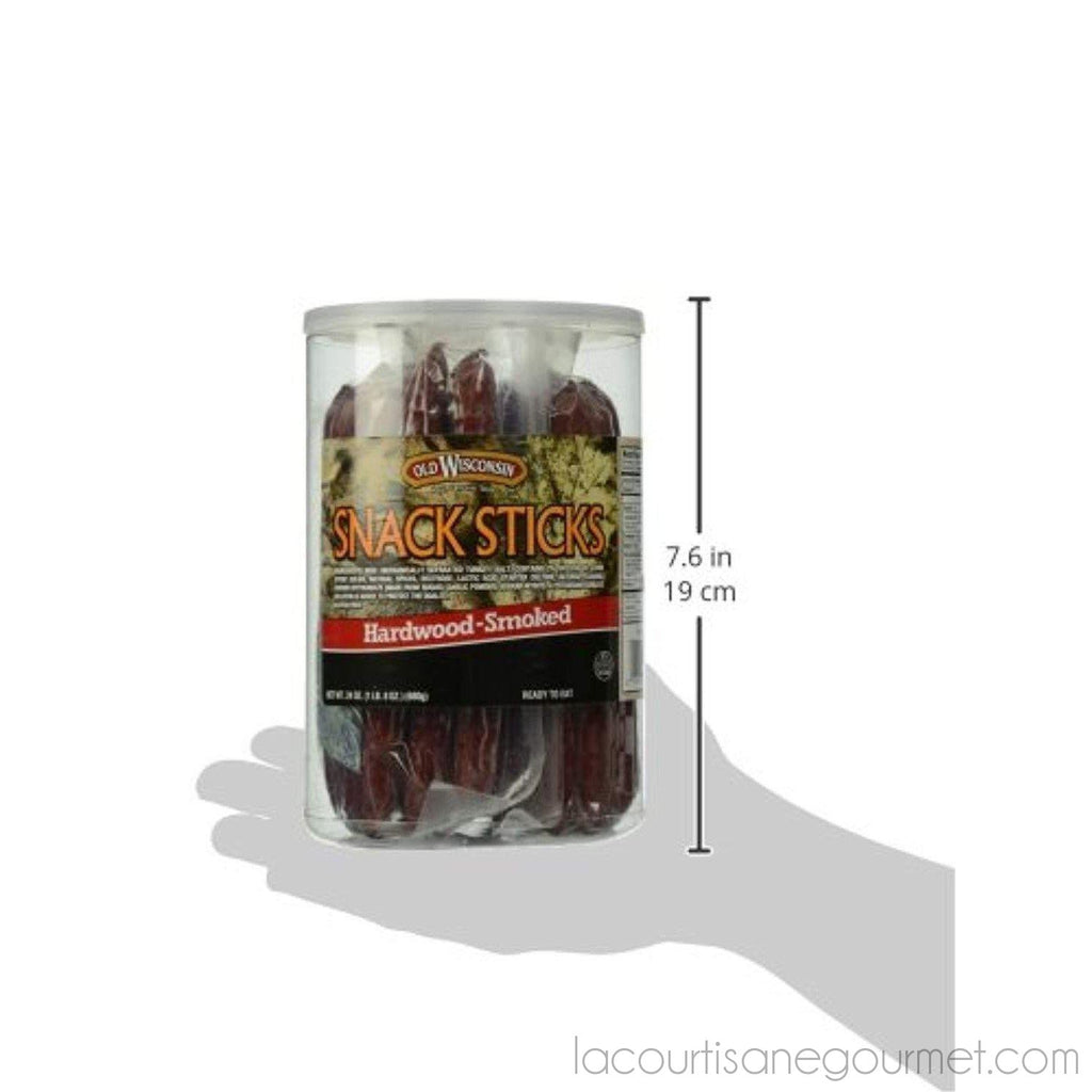 Old Wisconsin Beef Snack Sticks, High Protein, Gluten Free, 24 Ounce Resealable Jar - Jerky - La Courtisane Gourmet Food
