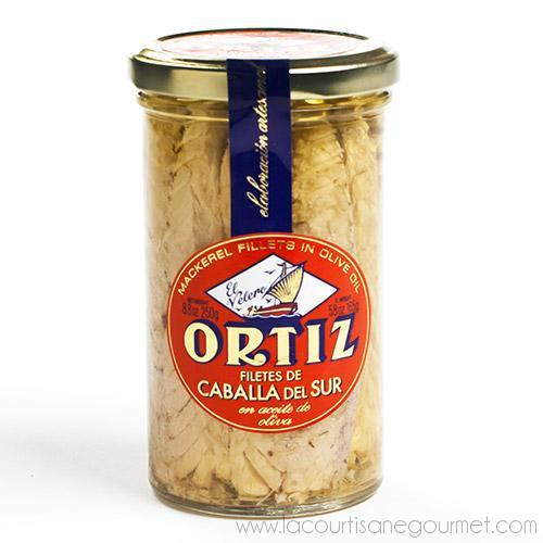 Ortiz - Sgombro (Mackerel Fillets) in Oil 250 grams - Mackerel Fillets - La Courtisane Gourmet Food