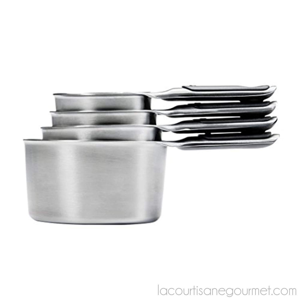 Oxo 11132000 Good Grips Stainless Steel Measuring Cups With Magnetic Snaps - - La Courtisane Gourmet Food