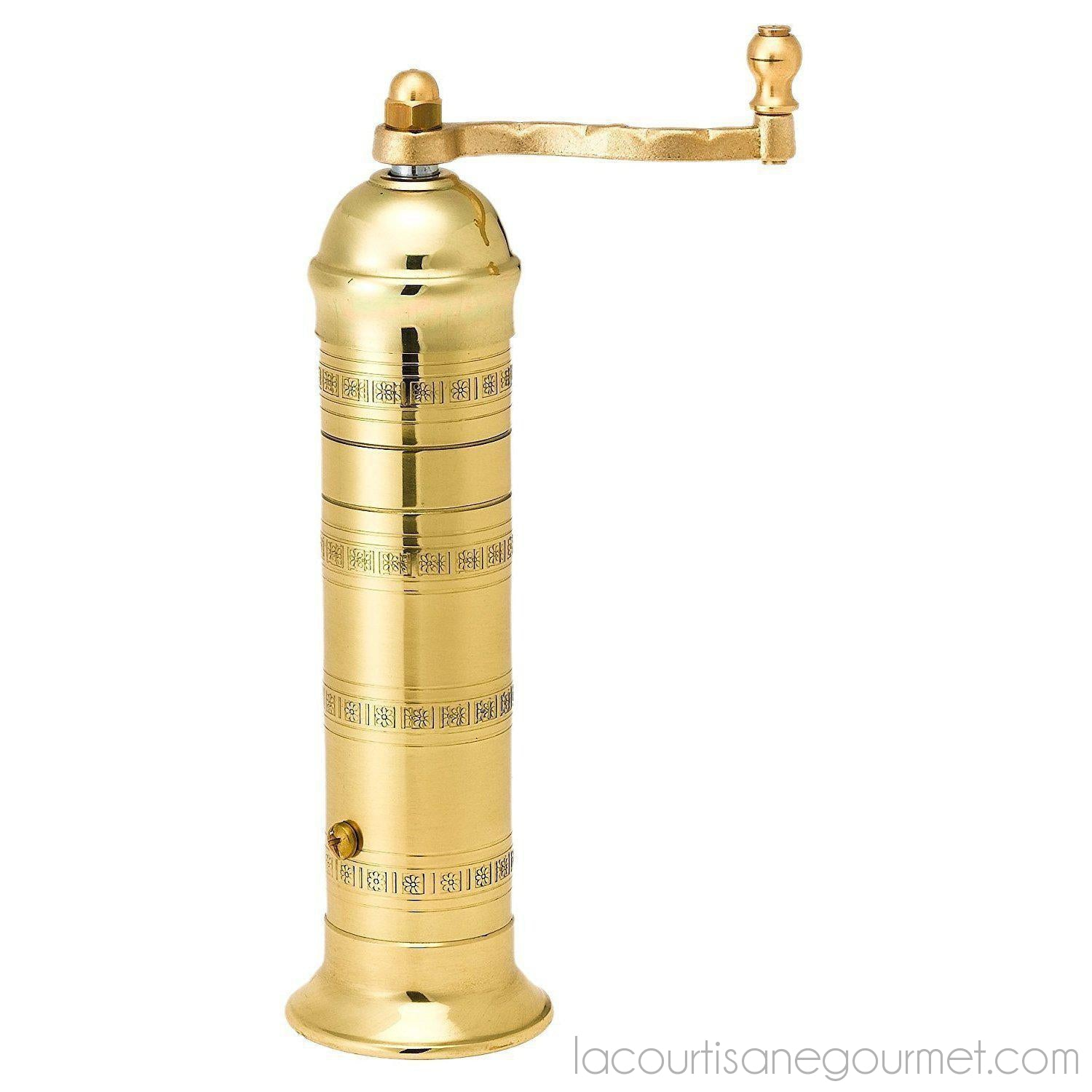"Pepper Mill Imports Atlas Pepper Mill, Brass, 8"" - - La Courtisane Gourmet Food"