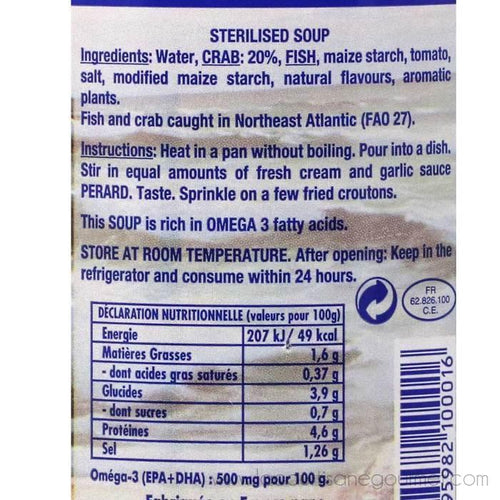 Perard - French Crab Soup, 100% Natural, 29 fl oz (850ml) - Soup - La Courtisane Gourmet Food