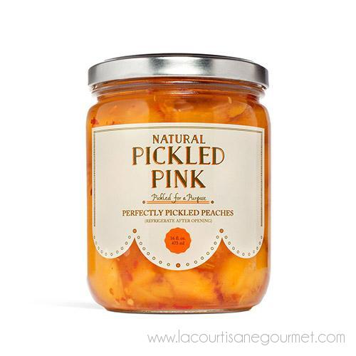 Pickled Pink - Perfectly Pickled Peaches 16 oz - Pickles - La Courtisane Gourmet Food