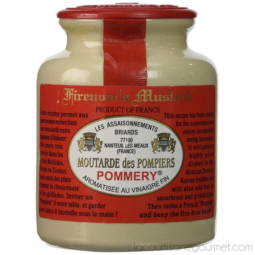 Pommery Fireman'S Mustard Meaux Moutarde In Pottery Crock - Mustard - La Courtisane Gourmet Food