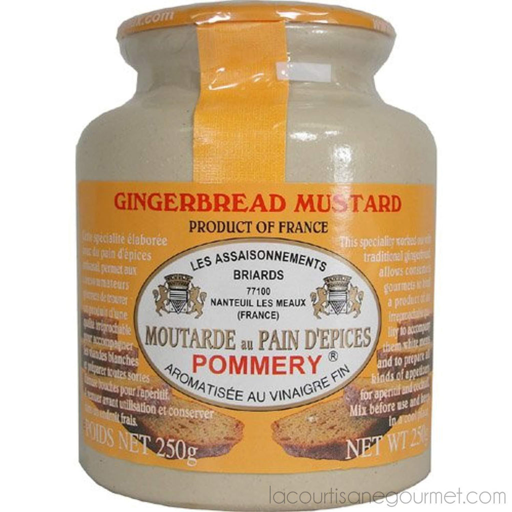 Pommery - Gourmet Gingerbread Mustard From France In Crock 8.8Oz - - La Courtisane Gourmet Food