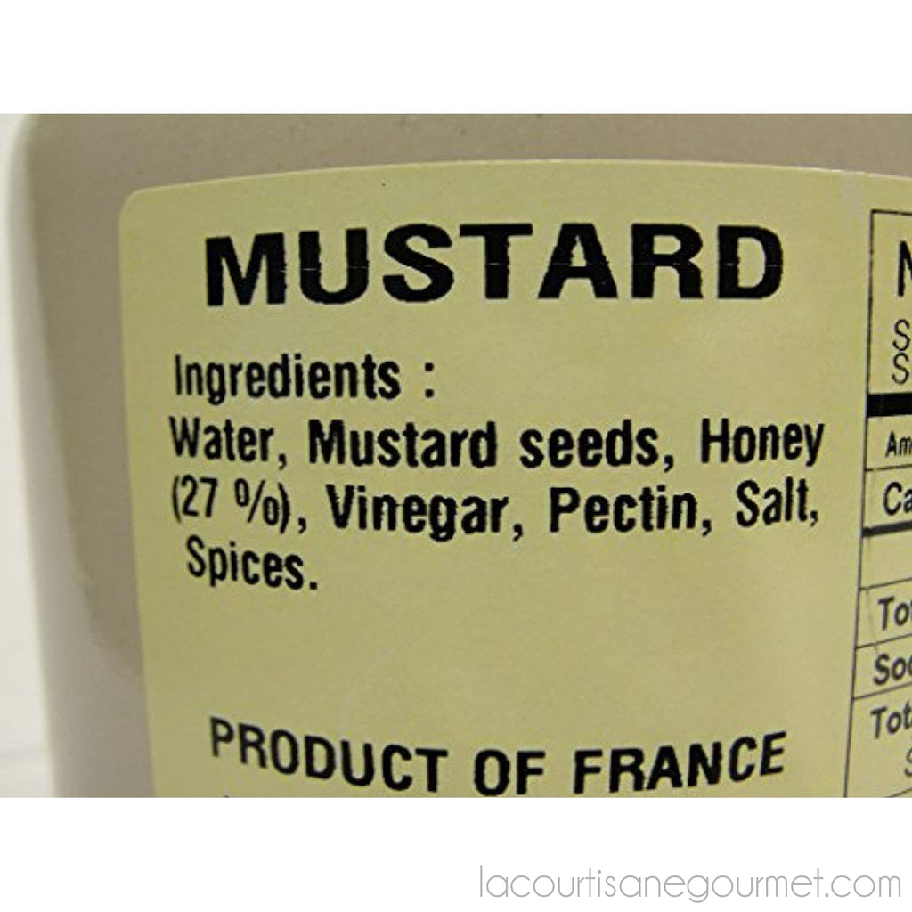 Pommery Honey Mustard From Meaux In Stone Jar 250 Gr - - La Courtisane Gourmet Food