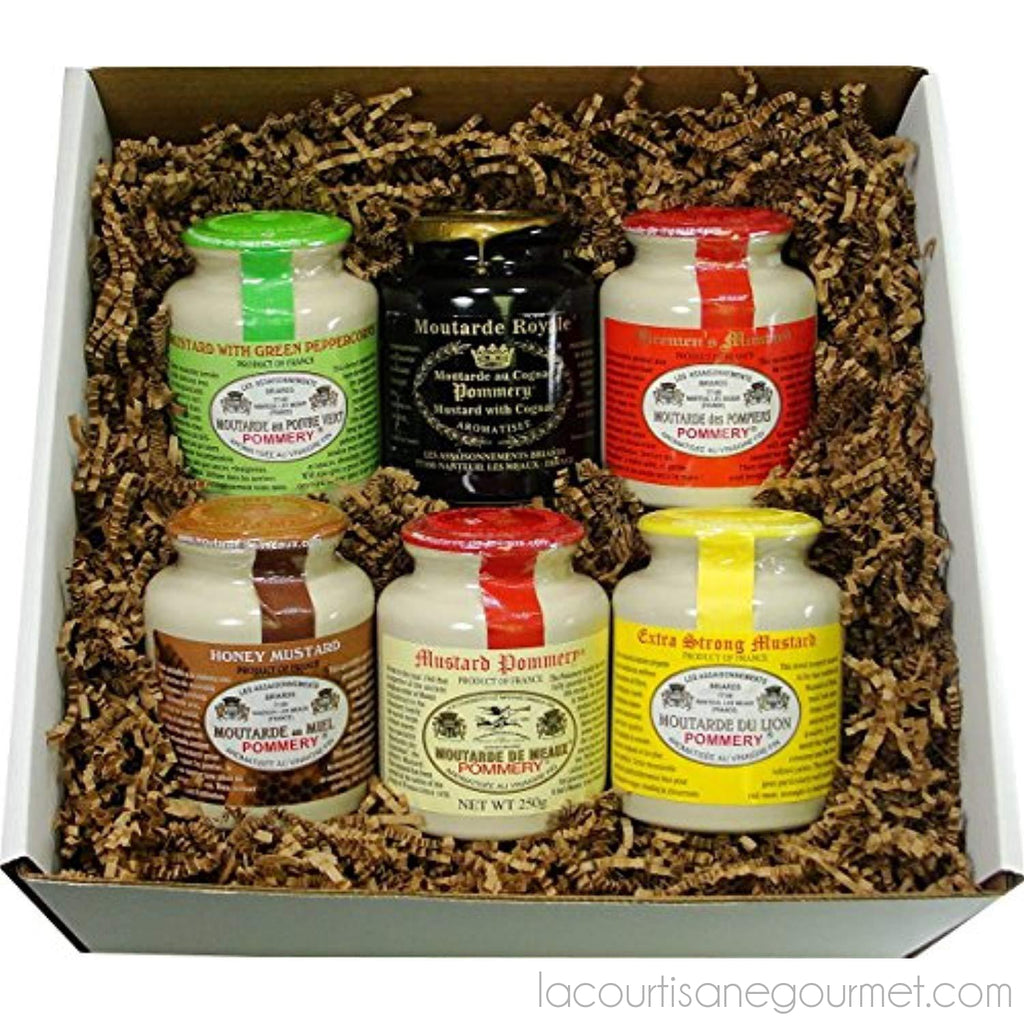 Pommery Mustard 6 Mustard Assortment Meaux Moutarde In Gift Box - - La Courtisane Gourmet Food