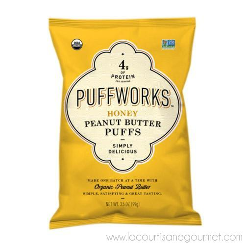 Puffworks - Honey Peanut Butter Puffs 3.5 oz - Snack - La Courtisane Gourmet Food