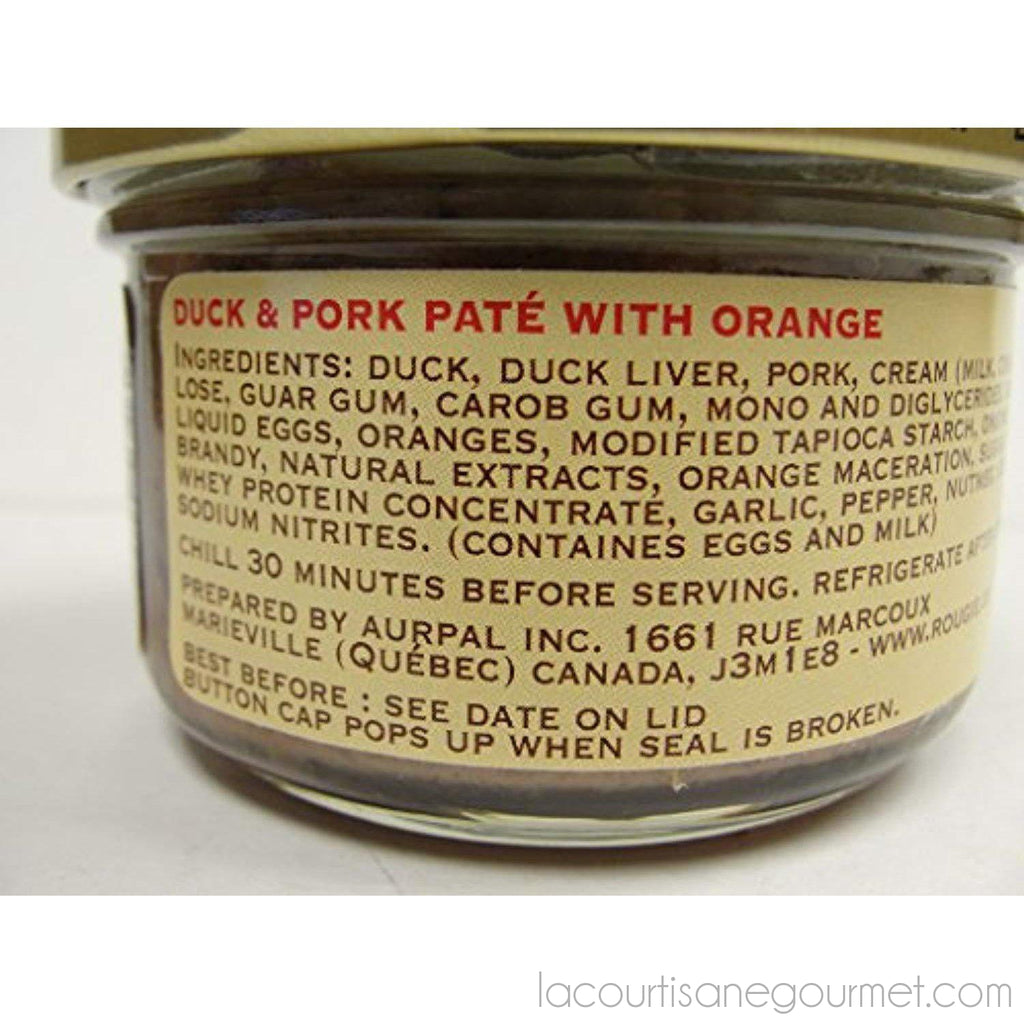 Rougie - Duck And Pork Pate With Orange 2.8Oz (80G) - Pate - La Courtisane Gourmet Food