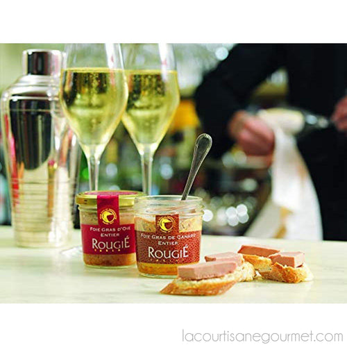 Rougie - Duck Foie Gras In Glass Jar 4.4Oz (125G) - Foie Gras - La Courtisane Gourmet Food
