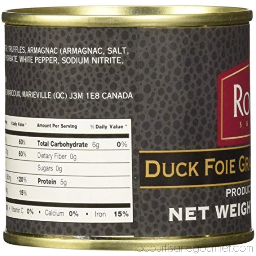 Rougie - Foie Gras With Truffles Fully Cooked, 3.17 Oz (90G) - Foie Gras - La Courtisane Gourmet Food