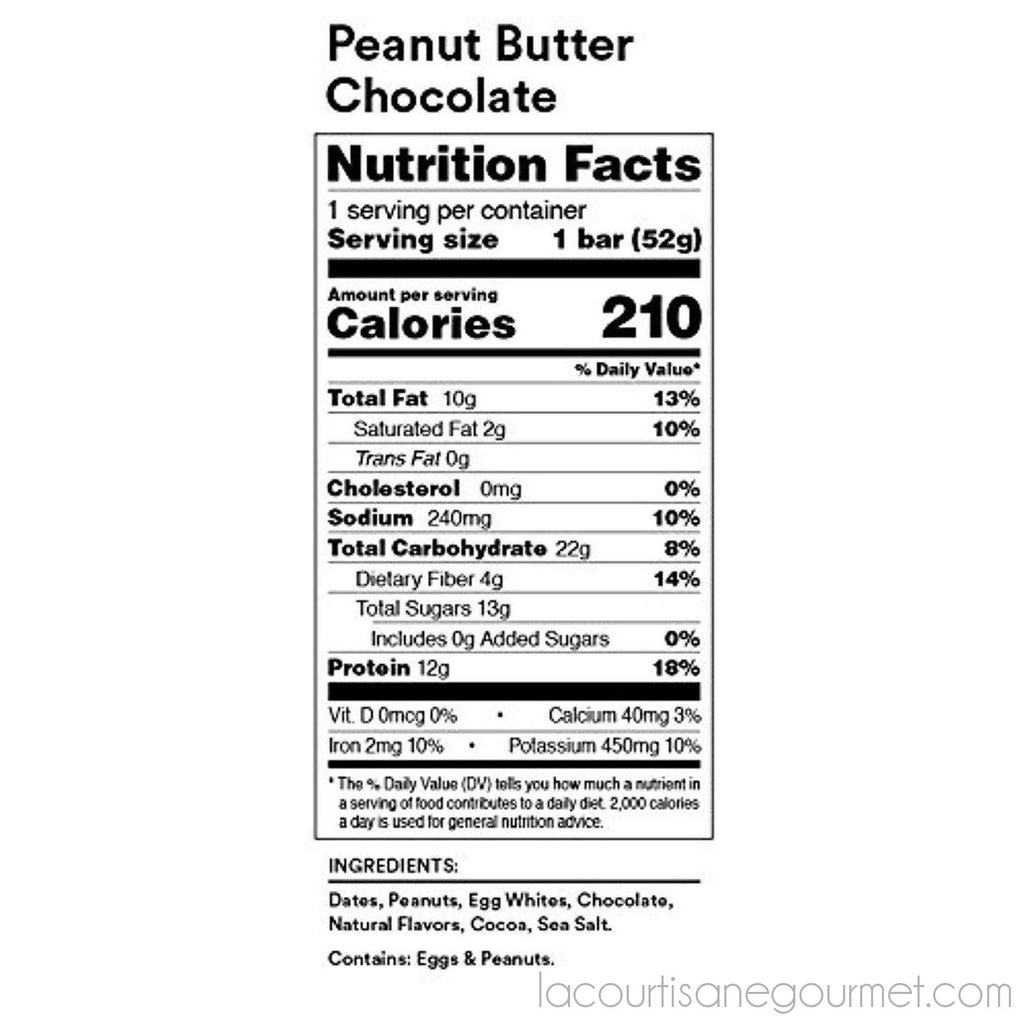 Rxbar Whole Food Protein Bar, Peanut Butter Chocolate, 1.83Oz - Bar - La Courtisane Gourmet Food