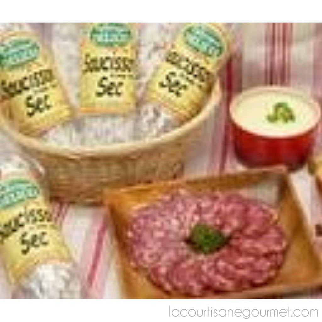 Saucisson Sec Dry French Sausage. One 11 Ounce Sausage - Sausage - La Courtisane Gourmet Food