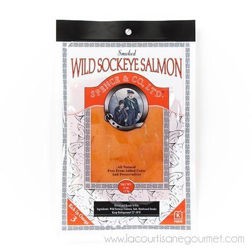 Spence and Co. - Wild Sockeye Smoked Salmon 4 oz - Smoked Salmon - La Courtisane Gourmet Food