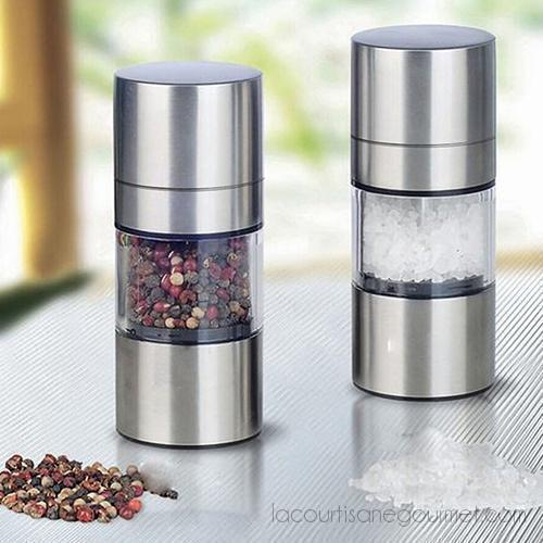 Stainless Steel Manual Salt Pepper Mill Grinder Portable Kitchen Muller Tool - Kitchen Ustensil - La Courtisane Gourmet Food
