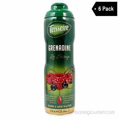 Teisseire French Grenadine Syrup (20 Oz. X 6) - Syrup - La Courtisane Gourmet Food