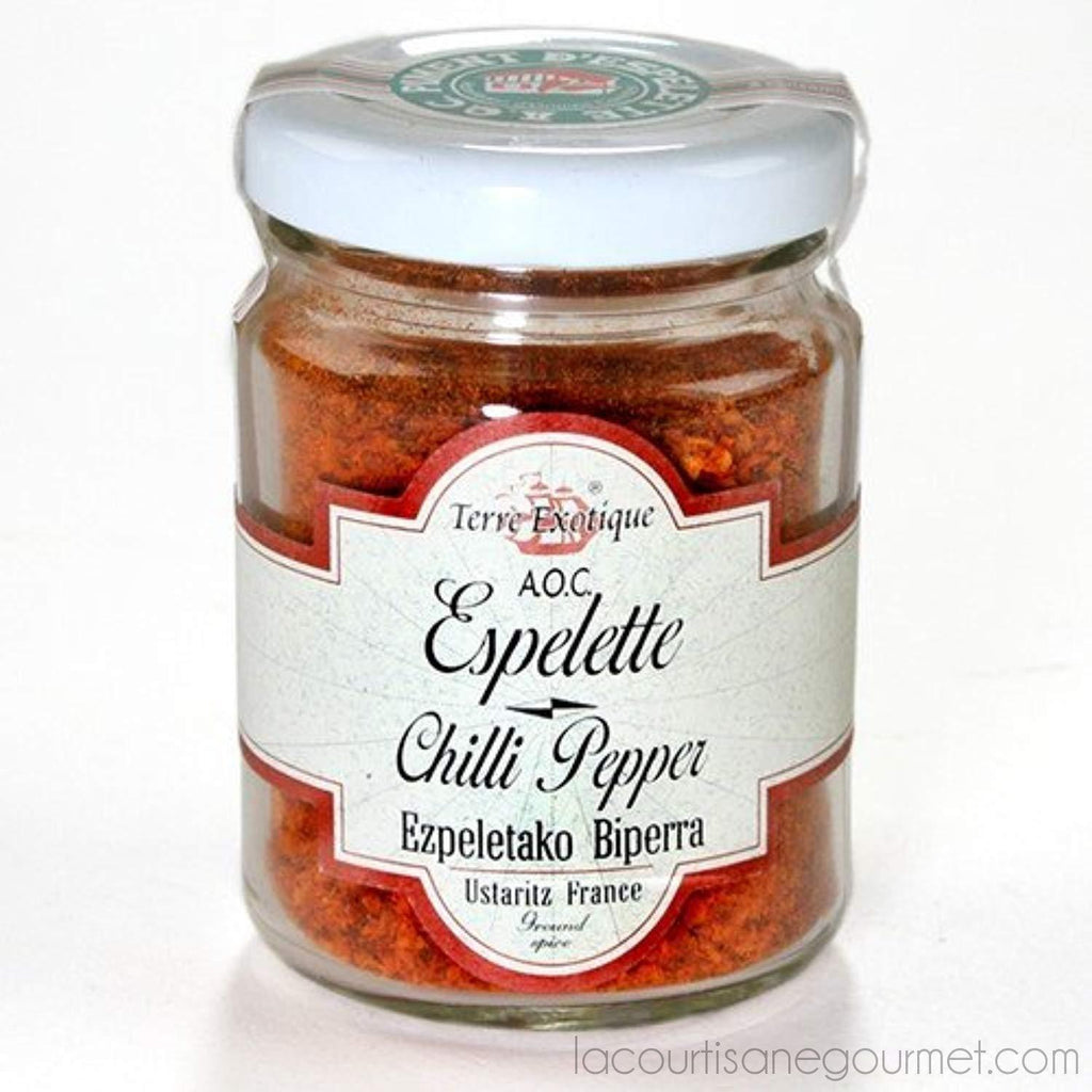 Terre Exotique Espelette Chilli Pepper Aoc - Piments d Espelette (1.4 Ounce) - pepper - La Courtisane Gourmet Food