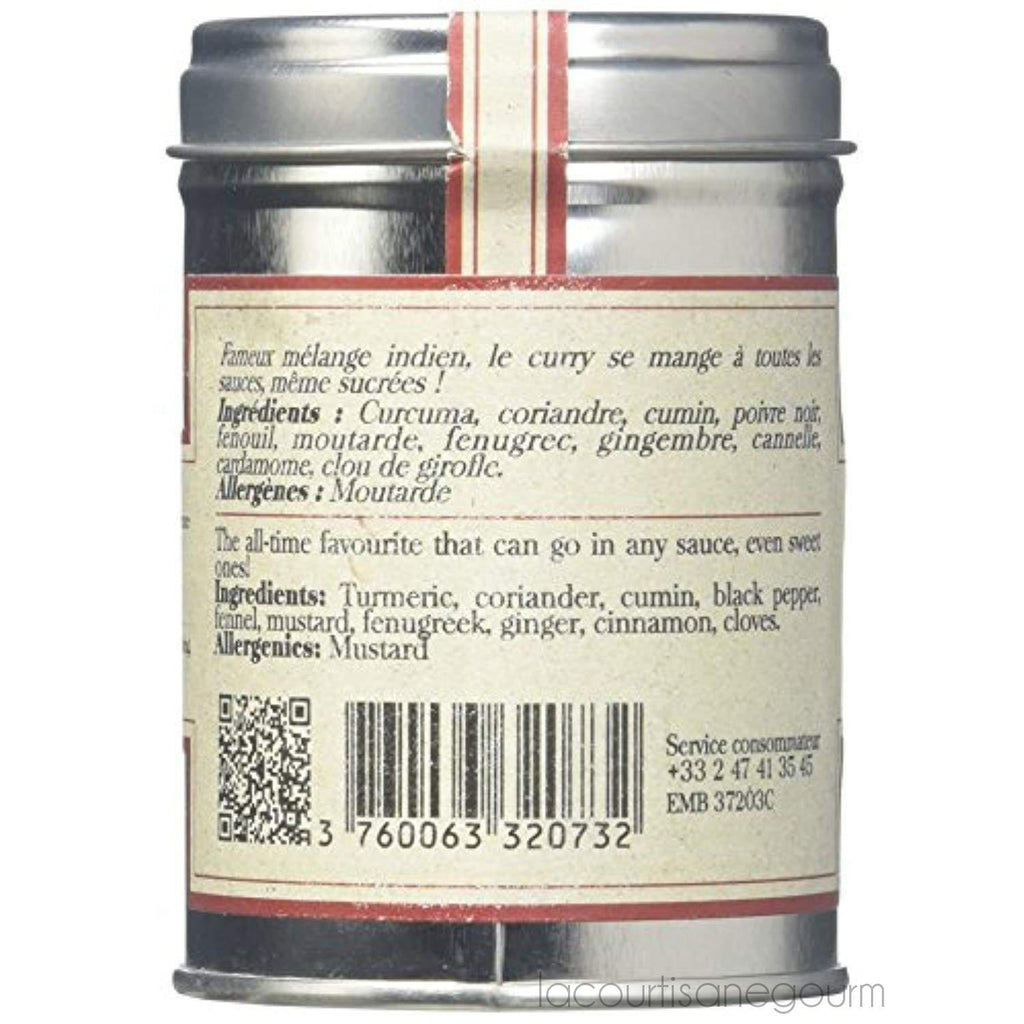 Terre Exotique Madras Curry Tamil Nadu India- Fabulous Spicy Mix In Tin Presentation 2.1 Oz - pepper - La Courtisane Gourmet Food