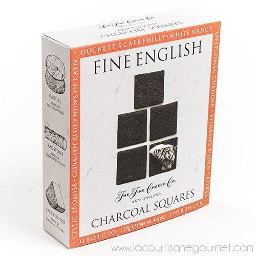 The Fine English Co. - Fine English Charcoal Squares 4.4 oz - Crackers - La Courtisane Gourmet Food