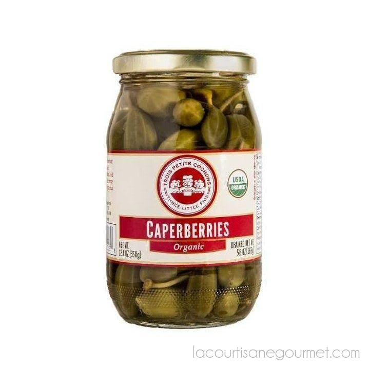 Three Little Pigs - Organic Caperberries 12.4 Oz. - - La Courtisane Gourmet Food