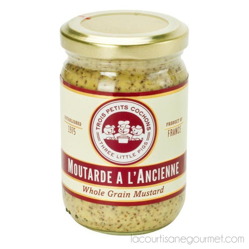 Three Little Pigs - Whole Grain Mustard 7 Oz - Mustard - La Courtisane Gourmet Food